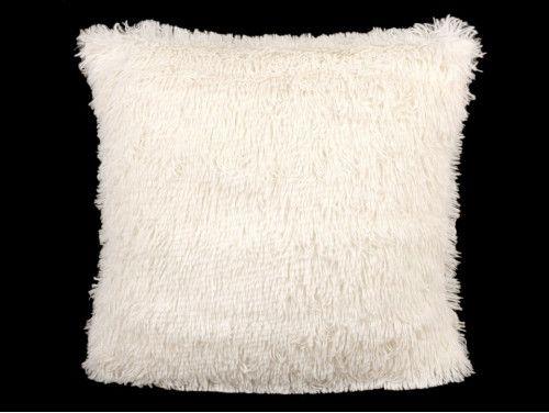 poszewka na poduszkę włochata ecru
