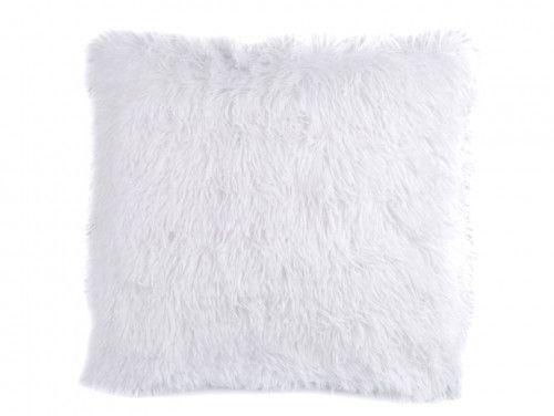 poszewka na poduszkę włochata biała