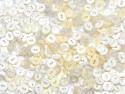 guziki 11mm mix biały