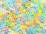 guziki 11mm mix pastelowy