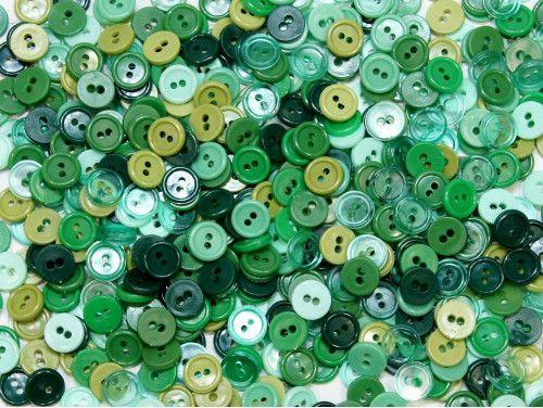 guziki 11mm mix zielony