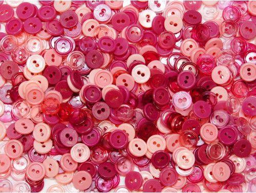guziki 11mm mix różowy