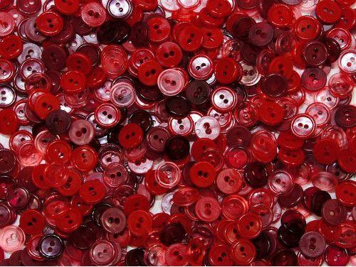 guziki 11mm mix czerwony