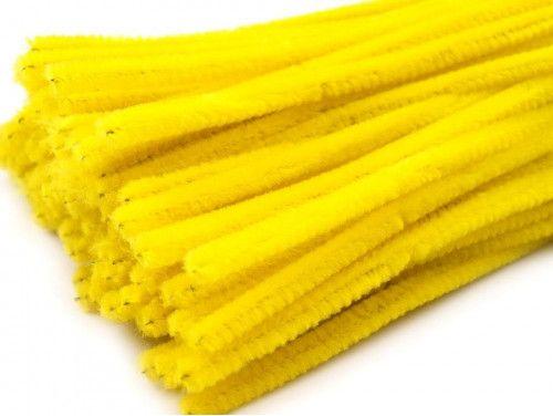 drut pluszowy żółty
