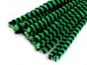 drut pluszowy prążkowany zielony op.10