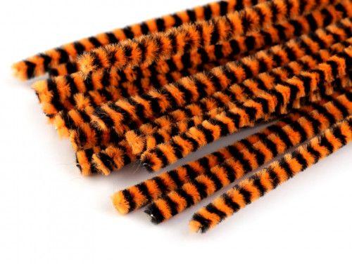 drut pluszowy prążkowany pomarańczowy op.10