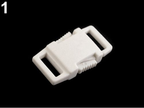 klamra plastikowa 9 biała