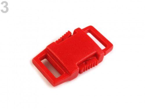 klamra plastikowa 9 czerwona