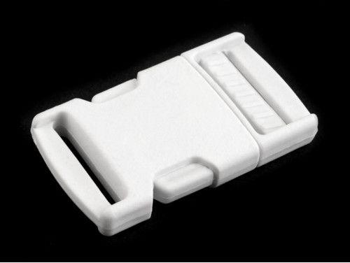 klamra plastikowa 25 biała