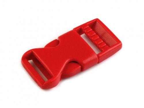 klamra plastikowa 15 czerwona