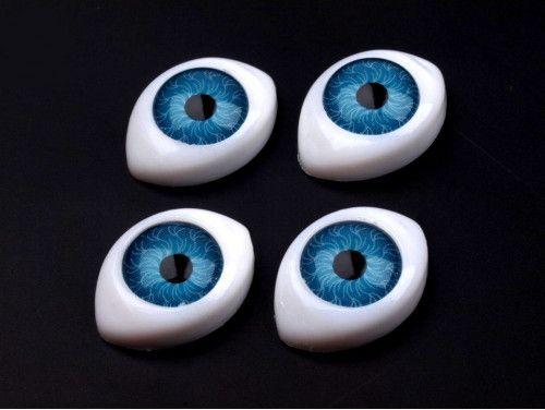 oczy do zabawek 14/19 niebieskie