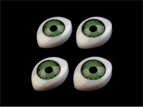 oczy do zabawek 12/17 zielone