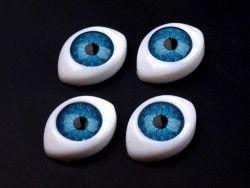 oczy do zabawek niebieskie