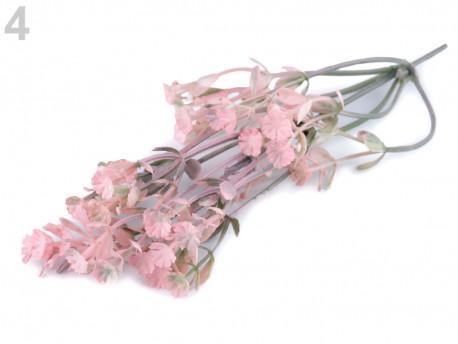 sztuczna gałązka z kwiatami różowa