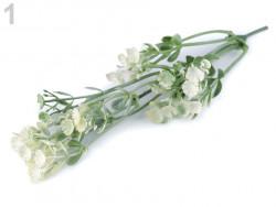 sztuczna gałązka z kwiatami kremowa