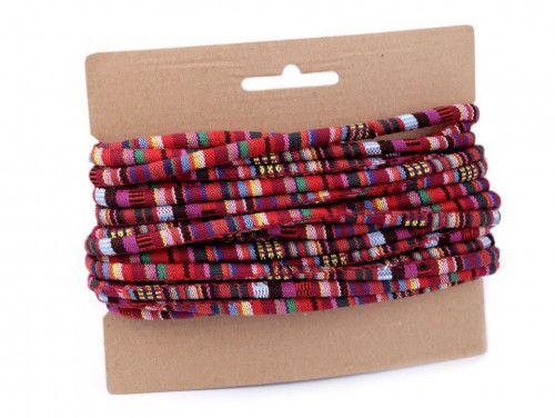 sznurek bawełniany 6mm -etno-czerwony