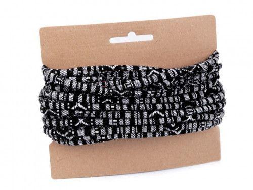 sznurek bawełniany 6mm -etno-czarny