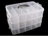 organizer - pudełko na akcesoria 3 piętra 18x24x33