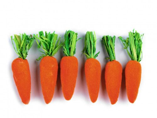 marchewki dekoracyjne 6 sztuk
