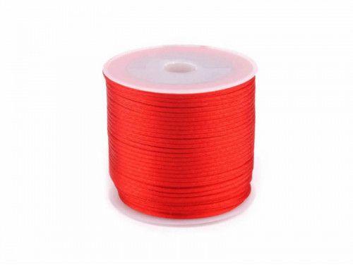 sznurek satynowy 2 mm czerwony szpula 100m