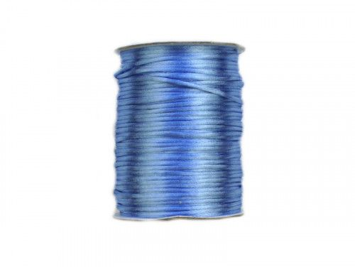 sznurek satynowy 2 mm niebieski szpula 100m