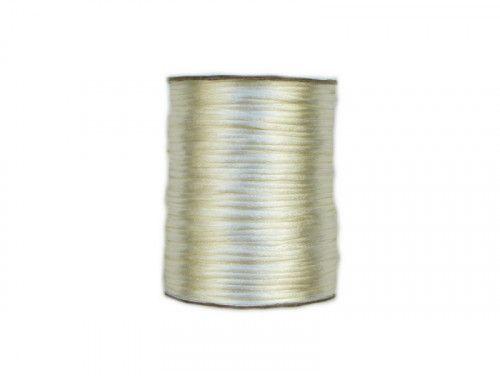 sznurek satynowy 2 mm ecru szpula 100m