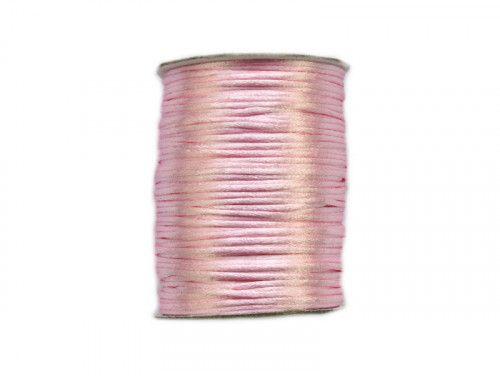 sznurek satynowy 2 mm j.różowy szpula 100m