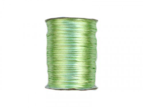 sznurek satynowy 2 mm pistacjowy szpula 100m