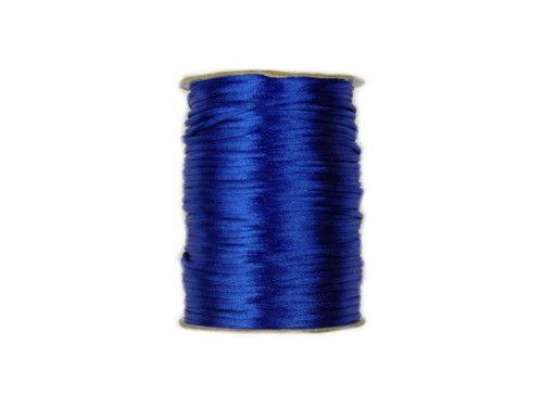 sznurek satynowy 2 mm chabrowy szpula 100m