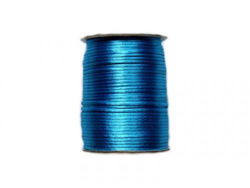 sznurek satynowy 2 mm turkusowy szpula 100m