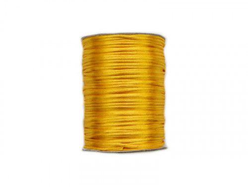 sznurek satynowy 2 mm shamballa żółty