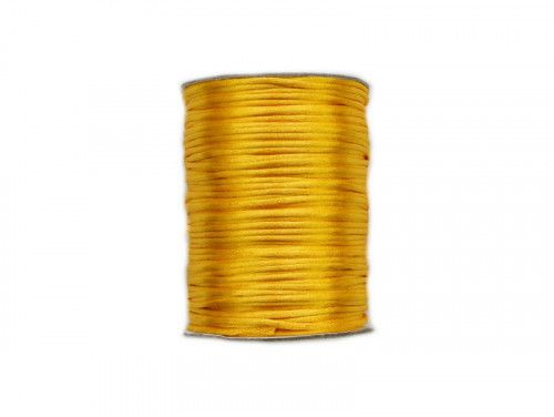 sznurek satynowy 2 mm żółty szpula 100m