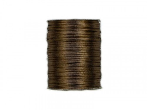 sznurek satynowy 2 mm shamballa jasny brązowy