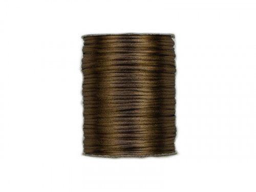 sznurek satynowy 2 mm jasny brązowy szpula 100m