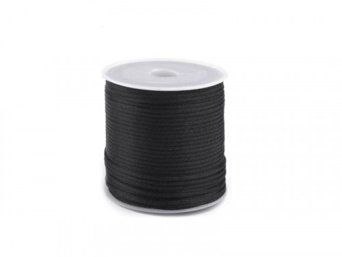 sznurek satynowy 2 mm shamballa czarny