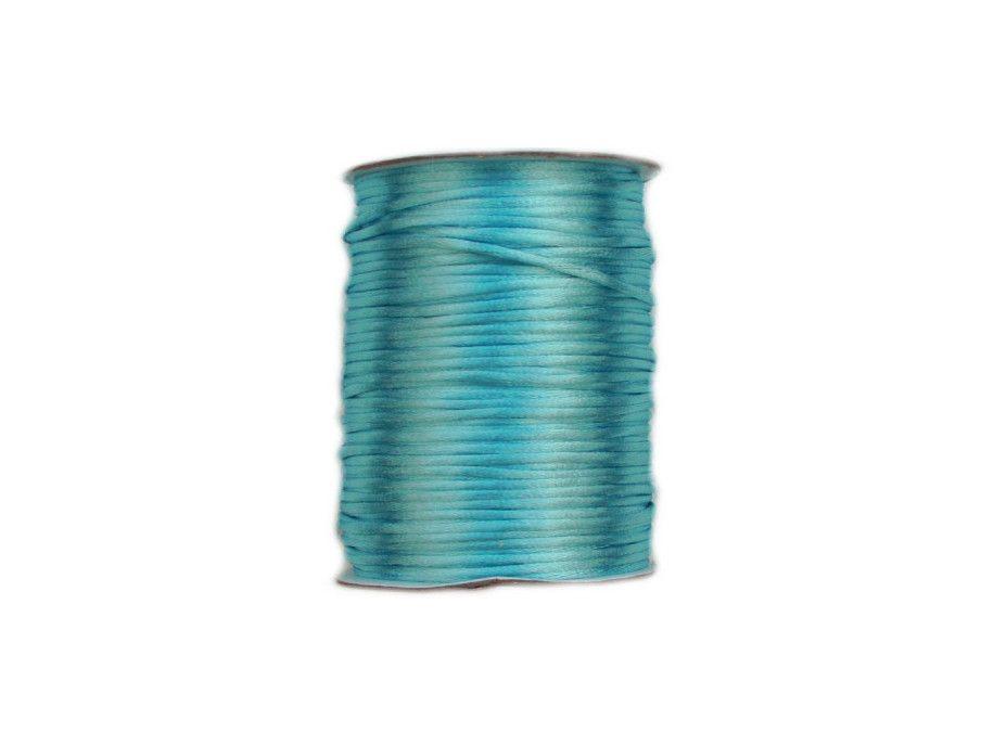 sznurek satynowy 2 mm shamballa jasny turkusowy