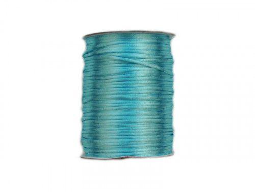 sznurek satynowy 2 mm jasny turkusowy szpula 100m