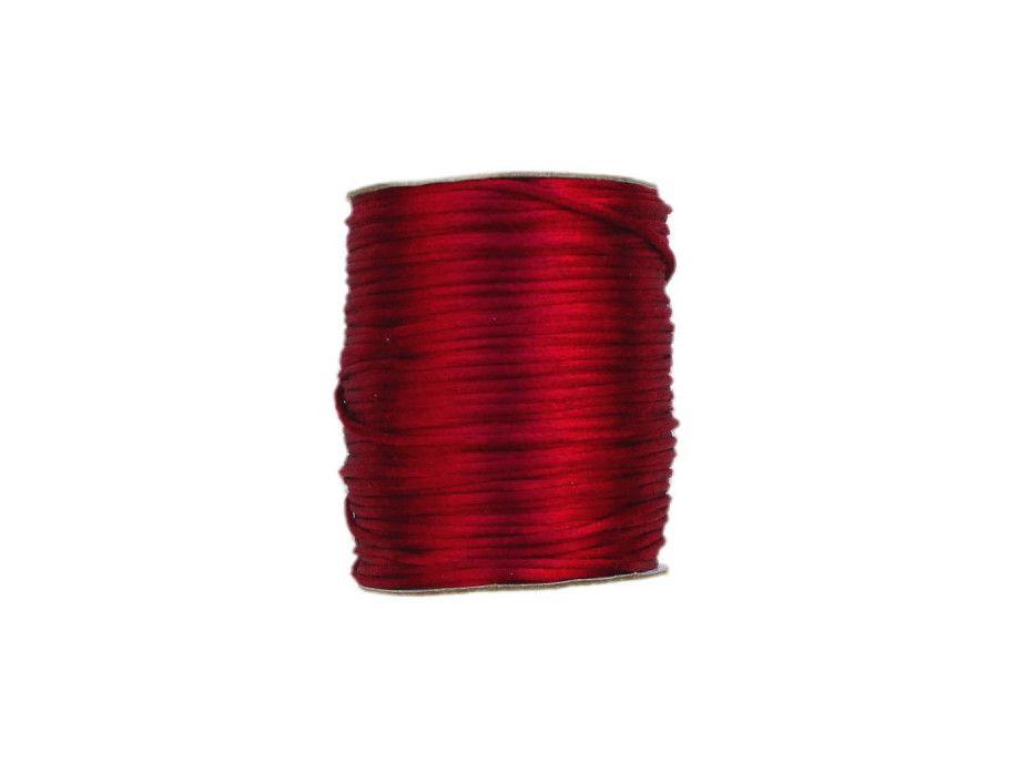 sznurek satynowy 2 mm shamballa ciemny czerwony