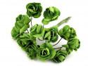 sztuczne róże zielone 12 szt.