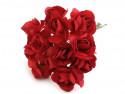sztuczne róże czerwone 12 szt.