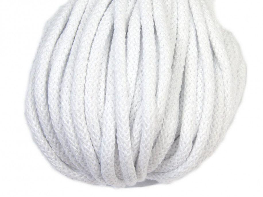 sznurek bawełniany 5mm -biały