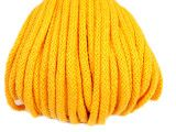 sznurek bawełniany 5mm -żółty