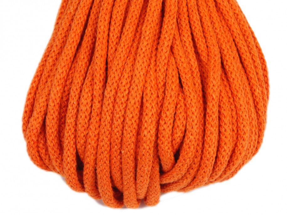 sznurek bawełniany 5mm -pomarańczowy