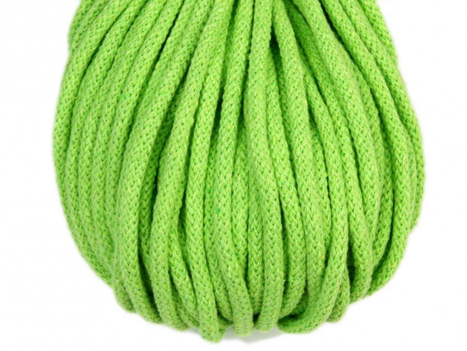 sznurek bawełniany 5mm - seledynowy