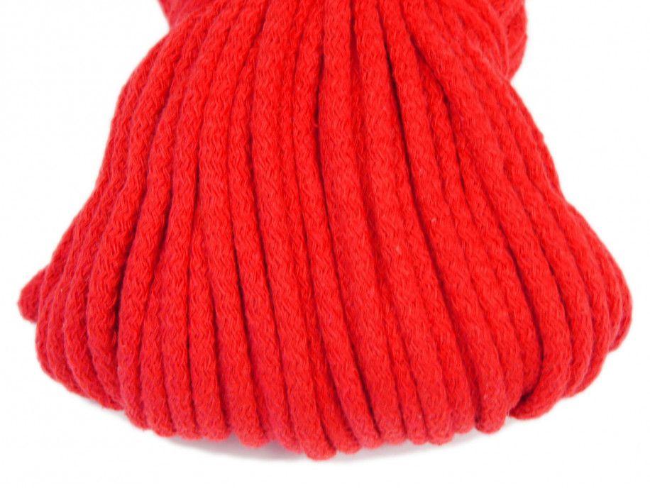 sznurek bawełniany 5mm - czerwony