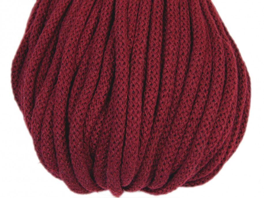 sznurek bawełniany 5mm - bordowy
