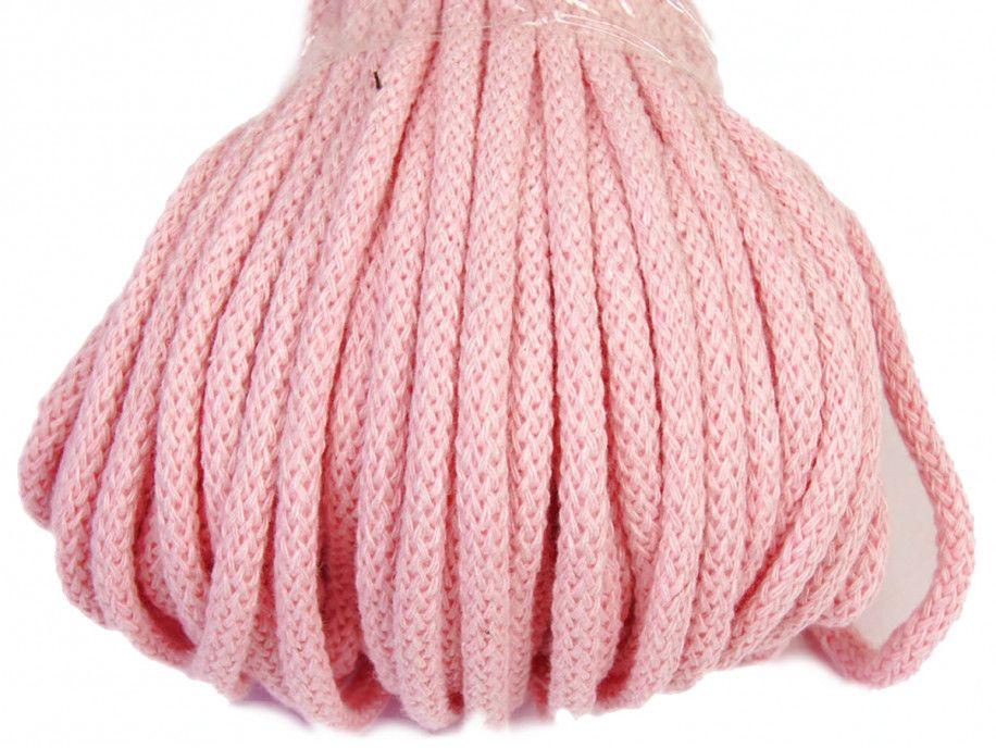 sznurek bawełniany 5mm - różowy