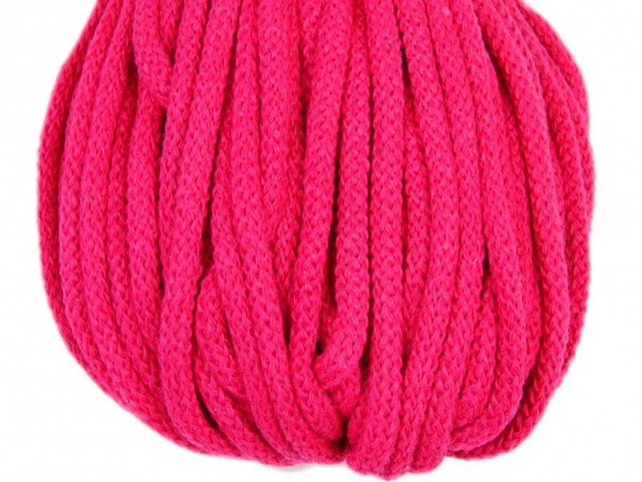 sznurek bawełniany 5mm - amarantowy
