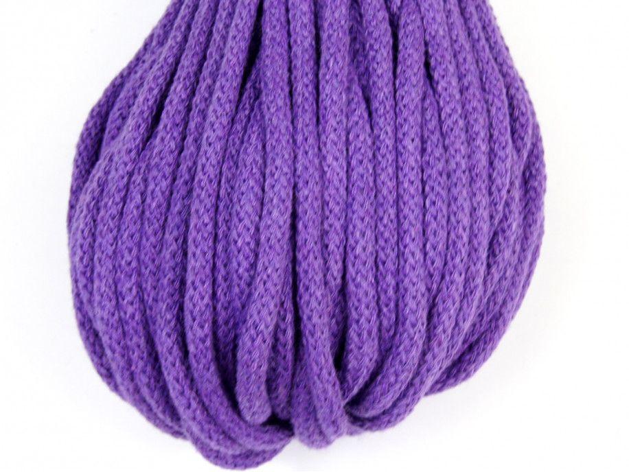 sznurek bawełniany 5mm - fioletowy