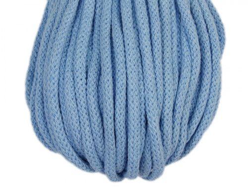 sznurek bawełniany 5mm niebieski